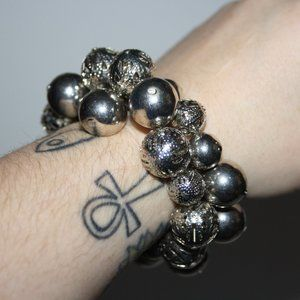 Beautiful silver chunky ball bracelet